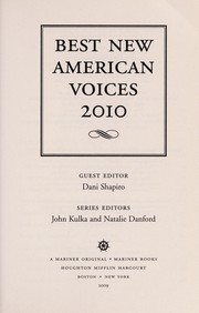 Cover of: Best new American voices 2010