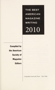 Cover of: The best American magazine writing 2010