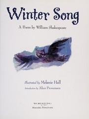 Cover of: Winter song | William Shakespeare