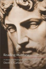 Cover of: Reading Matthew