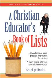 Cover of: Help! a Christian Educator's Book of Lists (Help!)