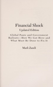 Cover of: Financial shock | Mark M. Zandi
