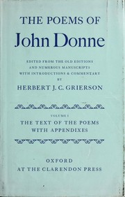 Cover of: John Donne Poetry