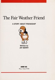 Cover of: The Fair Weather Friend |