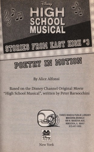 Poetry in Motion (Stories from East High #3) by Alice Alfonsi