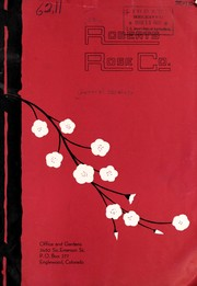 Cover of: Roberts Rose Co. [catalog] | Roberts Rose Co. (Englewood, Colo.)