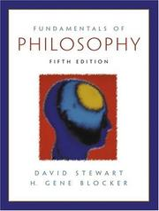 Cover of: Fundamentals of philosophy