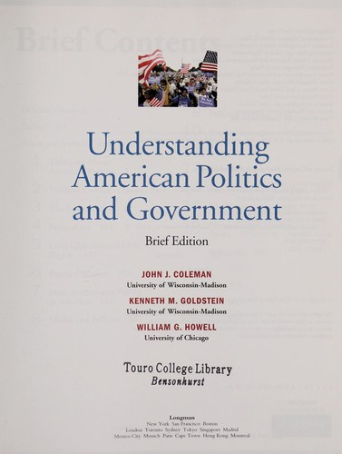 Understanding American politics and government by Coleman, John J.
