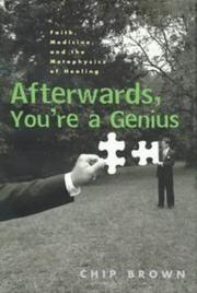 Cover of: Afterwards, you