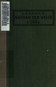 Nathan der Weise by Gotthold Ephraim Lessing