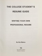 Cover of: The college student's resume guide