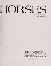 Cover of: Horses | Frederick L. Devereux