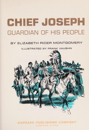 Cover of: Chief Joseph, guardian of his people