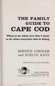 Cover of: The family guide to Cape Cod