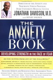 Cover of: The Anxiety Book
