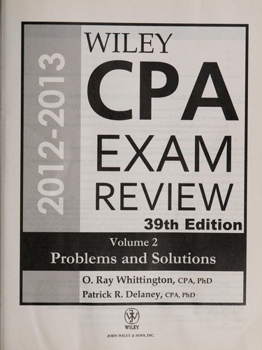 Wiley CPA examination review by Patrick R. Delaney