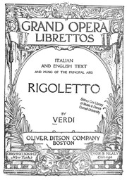 Cover of: Rigoletto