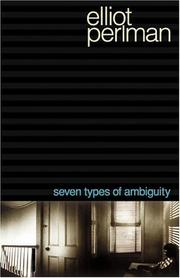 Cover of: Seven types of ambiguity