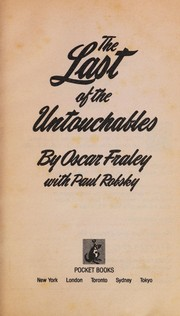 Cover of: The Last of the Untouchables | Oscar Fraley