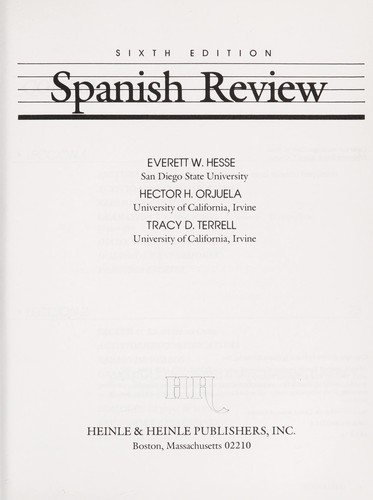Spanish Review by Everett Wesley Hesse