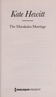 Cover of: The Marakaios marriage | Kate Hewitt
