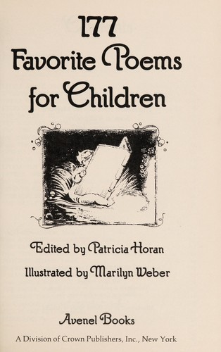 177 favorite poems for children by Patricia Horan