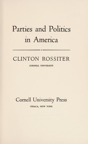 Cover of: Parties and politics in America
