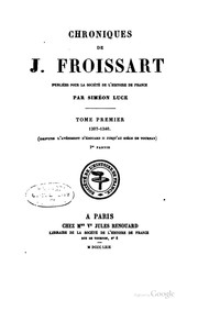 Chroniques by Jean Froissart