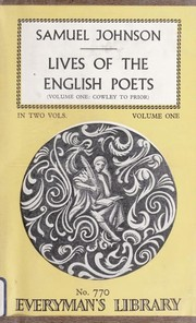 Cover of: Lives of the poets
