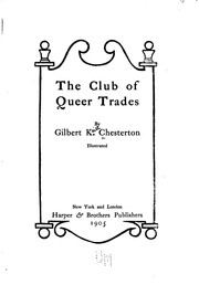 Cover of: The club of queer trades | G. K. Chesterton