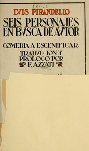 Cover of: Sei personaggi in cerca d'autore