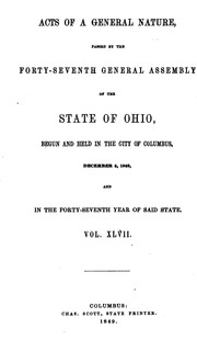 Cover of: Acts of the State of Ohio |