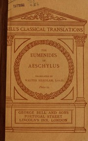 Cover of: The Eumenides | Aeschylus