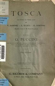 Cover of: Tosca