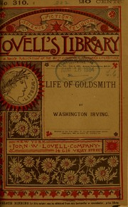 Cover of: Oliver Goldsmith: a biography