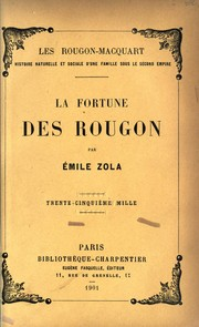 Cover of: La fortune des Rougon