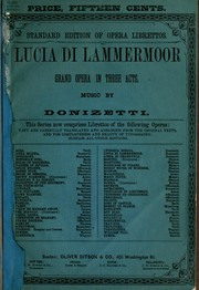 Cover of: Lucia di Lammermoor