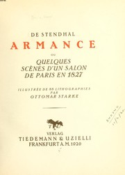 Cover of: Armance