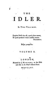 Cover of: The idler