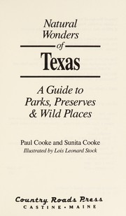 Cover of: Natural wonders of Texas | Cooke, Paul