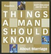 Cover of: Esquire's Things a Man Should Know About Marriage