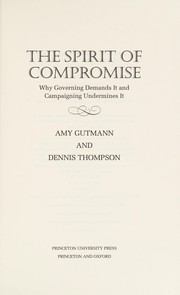 Cover of: The spirit of compromise