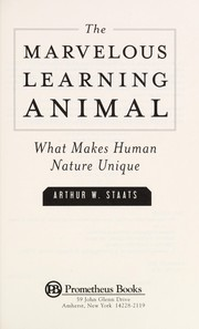 Cover of: The marvelous learning animal