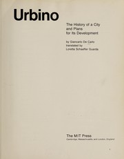 Cover of: Urbino | Giancarlo De Carlo