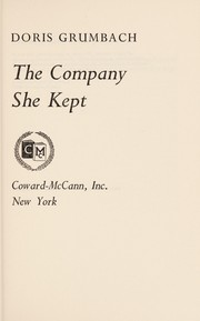 Cover of: The company she kept