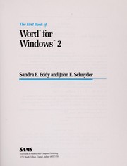 Cover of: The first book of Word for Windows 2