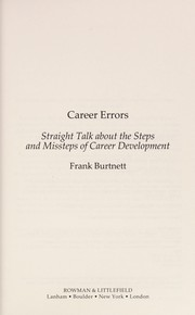 Cover of: Career errors