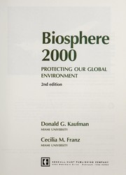 Cover of: Biosphere 2000