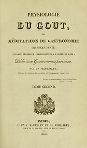 Cover of: Physiologie du goût