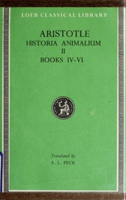 History of Animals by Aristotle
